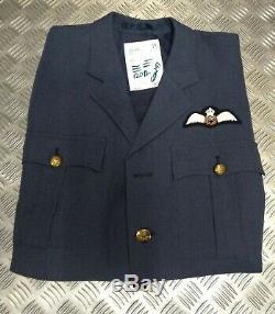 Véritable No1 Britannique Raf Officiers Issue Veste Ribbon Kings Crown (kc) Défectueux