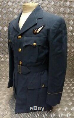 Véritable No1 Britannique Raf Ww2 Motif Pilote Robe Officier Veste Rois 1950 Couronne