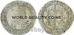 Very Rare Grande-bretagne 1601 Half 1/2 Crown Silver Elizabeth I Londres Pcgs Xf45