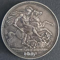 Victoria, Couronne, 1889, Argent, Extrêmement Fine, Belle Pièce