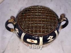 Vintage Crown Derby Style Crocus Vase Bulb Jardinière Bol Imari Motif Art