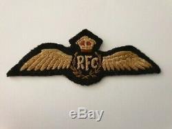 Ww1 Rfc Pilot Wing Canadien Fait, Couronne Rouge Avec Couronne Brown